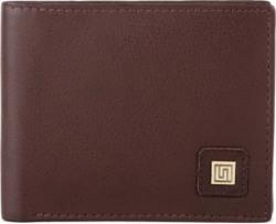 U+N Men Brown Genuine Leather Wallet
