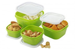 One Stop Shop Airtight Packing/Storage Container Set, 4- Pieces, Multicolor