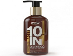 WOW Miracle 10 in 1 Shampoo - 300ml - No Sulphate - No Parabens - Infused Organic Rosemary & Tea Tree Oil