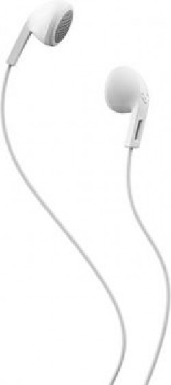 Skullcandy Rail S2LEZ-J568 In Ear Wired Earphones Without Mic(White Gray)