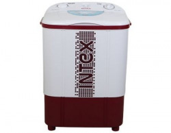Intex WM75ST Semi-automatic Top-loading Washing Machine (Washer Only,7.5 Kg, White and Maroon)
