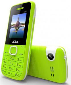 Aqua Neo Plus - 2000 mAh Battery Dual SIM Basic Keypad Mobile Phone with Vibration Feature - Green