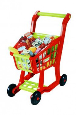 Sunshine Gifting Big Size Shopping Cart Toy, Interactive and Learning, Red