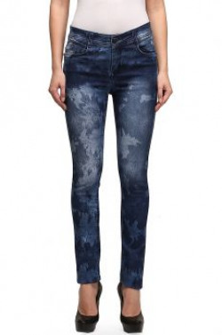 Ganga's Slim Fit Printed Denim Jeans for Women from RS 249