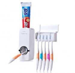 Nashware Toothpaste Dispenser with Toothbrush Holder White
