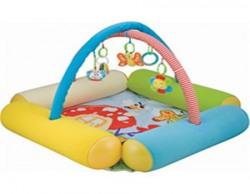 Baby Bucket Crawling pad music sound and light fitness mat (Yellow)