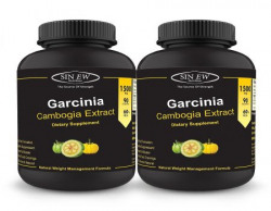 Sinew Nutrition Garcinia Cambogia Extract -(90 Capsules - Pack of 2) 1500 mg, 100 % Veg, Pure & Natural Weight Management & Appetite Suppressant Supplement