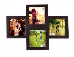 WENS 4-Picture MDF Photo Frame (16 inch x 16 inch, Brown, WSF-4068)