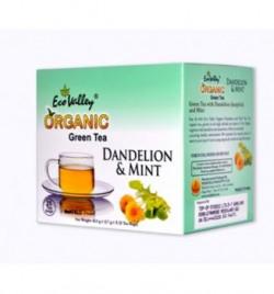 Eco Valley Organic Green Tea, Dandelion and Mint, 25 Tea Bags + 5 Tea Bags Free