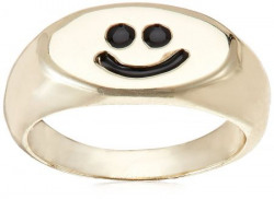 Funky Fish Ring for Women (Golden and Black) (I-645_H7297473289589)