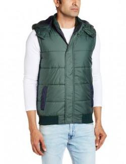 People Men's Synthetic Jacket (8903880760496_P10102118507124_Medium_Olive)