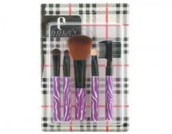 Foolzy Puprle Pack of 5 Makeup Brush Set (OBR-7F)