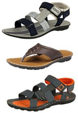 Tempo Men's Combo Pack of Casual Sandals & Slippers-8