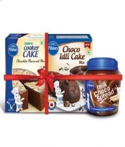 Pillsbury Choco Idli Cake,cooker Cake Mix & Milk Chocolate Spread (combo)