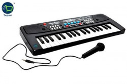 Toykart Latest 37 Key Piano Keyboard Toy with DC Power Option, Recording and Mic for kids ...