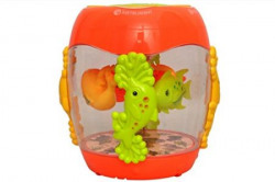 Sunshine Gifting Musical Fish Aquarium Drum Toy with 3D lights, Music, and Learning Activities