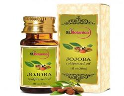 St.Botanica Jojoba Pure Coldpressed Oil, 30ml - Useful for Hair, Skin