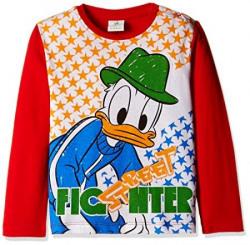 Donald Duck Boys' T-Shirt (51GC8607_Red_6 - 9 months)