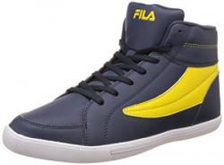 Fila Men's Streeter Navy and Yellow Sneakers - 7 UK/India (41 EU)