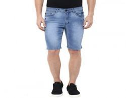 American Crew Men's Light Blue Denim Shorts - 36 (ACDS208-36)