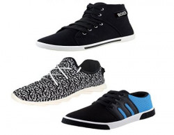 Earton Men Canvas Combo Pack of 3 Casual Shoes (Sneakers) (8 uk)