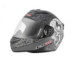LS2 Helmet - FF352-L Rookie Skull Graphic Black and Grey