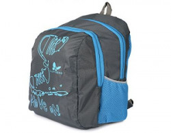 Lutyens Polyester Black Blue School Bags (17 Liters) (Lutyens_194)