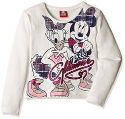 Minnie and Daisy Girls' T-Shirt (51AD8116_White_3- 4 years)