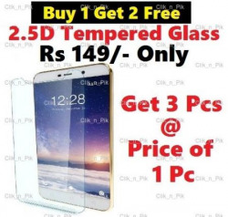 Buy 1 Get 2 Free ★ TEMPERED GLASS SCREEN PROTECTOR FOR XIAOMI REDMI NOTE 3