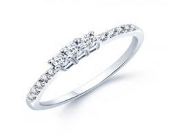 VK Jewels Classic (CZ) Rhodium Plated Ring - FR1016R Size 16 [VKFR1016R16]
