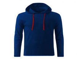 GHPC Men's Royal Blue Slim Fit Full Sleeve Hooded Cotton T-Shirt (TS900505M)