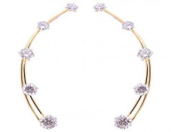 Archi Collection Trendy Golden Plated 5 Solitaire CZ Earcuffs For Women, EREC0001