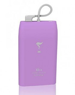 XTRA 6000mAh Li-Polymer Battery Portable Power Bank Built-in Micro Pin Cable Lightning Fast Charger