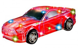 Toyshine Full Function Remote Control Car with Magic Lightning, Rechargeable, Red