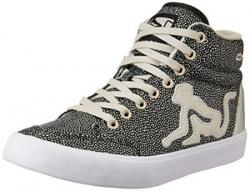 Drunknmunky Unisex Boston Galaxia Silver Sneakers - 2 UK/India (36 EU)