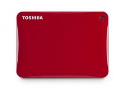 Toshiba Canvio Connect II 1TB Portable Hard Drive, Red (HDTC810XR3A1)