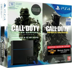 Sony PlayStation 4 (PS4) 1 TB with Call Of Duty: Infinite Warfare, Modern Warfare(Downloadable Code) & Infamous Second Son