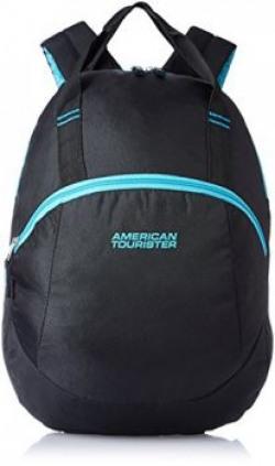 American Tourister Flint Black Casual Backpack (Flint Backpack 01_8901836116526)