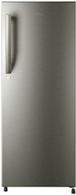 Haier 2204BS-R Direct-cool Single-door Refrigerator (220 Ltrs, 4 Star Rating, Brushline Silver and Silver Vivid)