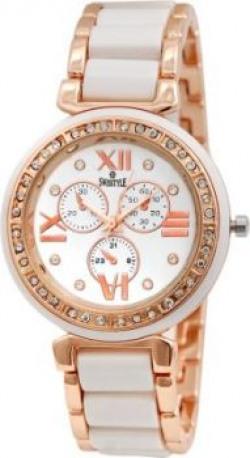 Swisstyle SS-LR703-wht Jewel Analog Watch - For Women