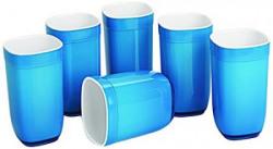 Cello Ceramica Square Glass Set, 6-Pieces, Blue