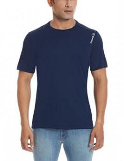 Reebok Men's Round Neck T Shirt (4055344504833_AF0063_XL_Blue)