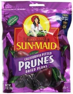 Sunmaid Prunes Bag, 225g
