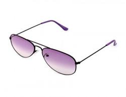 Laurels UV Protected Aviator Unisex Sunglasses -(AVP-0111 Purple Lens)