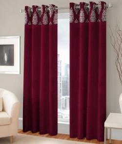 Fashion Fab Set Of 2 Door Eyelet Curtain