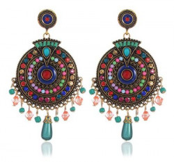 YouBella Jewellery Valentine Collection Bohemian Style Fancy Party Wear Earrings for Girls and Women