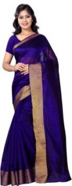 VIMALNATH SYNTHETICS Solid Fashion Cotton Sari