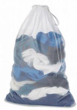 Whitmor Polyester Mesh Laundry Bag (White)