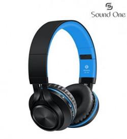 Sound One BT-06 Bluetooth Headphones (Black/Blue)