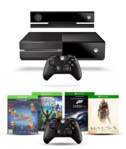 Microsoft Xbox One Console With Kinect With 1 Extra Wireless Controller And 4 Games (halo 5, Forza Motorsport 6 , Fruit Ninja 2 Dlc And Kinect